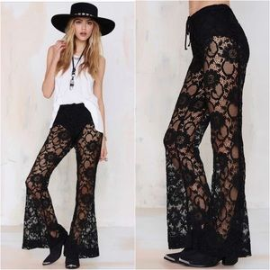 Nasty Gal Tragically Hip Flare lace pants